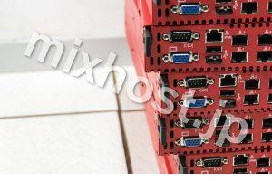 赤い5個のサーバー