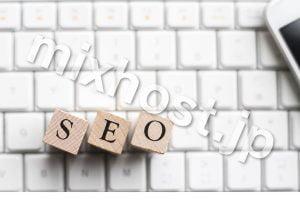 SEOの文字とキーボード